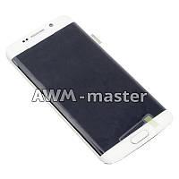 Дисплей Samsung G925F,G925FQ,G925S,G925V,G925i,G925S,G925K,Galaxy S6 Edge с сенсором на рамке. белый. Оригинал