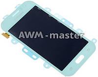 Дисплей Samsung J1,J110 Ace Duos с сенсором . голубой. Service Оригинал