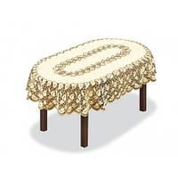 Ажурная скатерть 160х120 на овальный стол