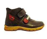 Кожаные весенние ботинки на мальчика 27, 30 коричневые