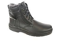 Ботинки мужские черный  на шнурке/замок PERFECT Б-3