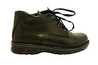 Кожаные весенние ботинки на мальчика 32-36 черные