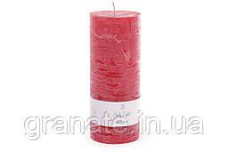 Декоративная свеча 20х8 см, время горения 100 часов, цвет - бордо