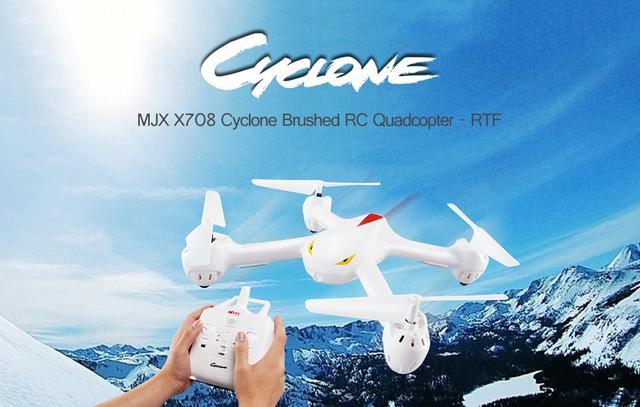 MJX X708 Cyclone бюджетный дрон с коллекторными моторами полностью готовый к полету