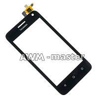 Сенсорное стекло Huawei Ascend Y3c черное Оригинал