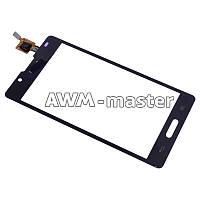Сенсорное стекло LG P710,P713 черное Оригинал