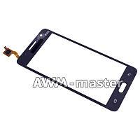 Сенсорное стекло Samsung G530 Galaxy Grand Prime серое H/C