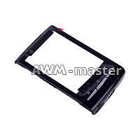 Сенсорное стекло Sony Ericsson E10 i, X10 Xperia mini на корпусной рамке. Черное
