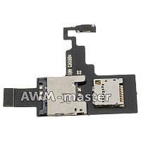 Шлейф HTC Desire X, T328e с сим коннектором, разъемом карты памяти и кнопкой включения. Оригинал
