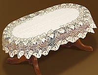 Ажурная скатерть 240*140 на овальный стол