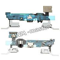 Шлейф для Samsung A700, A700H, A700F Galaxy A7 на разъем зарядки,с микрофоном и компонентами. Оригинал