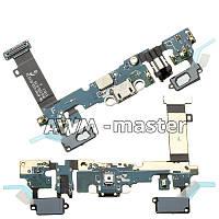 Шлейф для Samsung A710 Galaxy A7 Duos на разъем зарядки,с микрофоном и компонентами. Оригинал