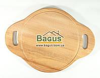 Деревянная подставка 25см (бук) под порционные сковороды с боковыми ушками, фото 1