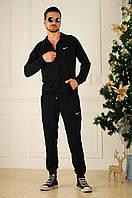 Костюм спортивный, Ткань : турецкая двух нитка высокого качества  Цвет: черный роле №1068, фото 1