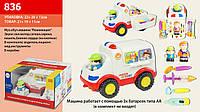 Музыкальная развивающая игрушка Скорая помощь батарейки с мед инстум, человеч, в коробке 25*18 см