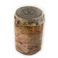 Печень трески натуральная отборная  в стеклянной  банке 500  грамм
