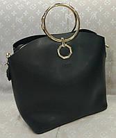 Женская брендовая сумка Chloe Хлое эко-кожа черная