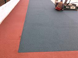 Устройство двухцветного покрытия для спортивной площадки 6