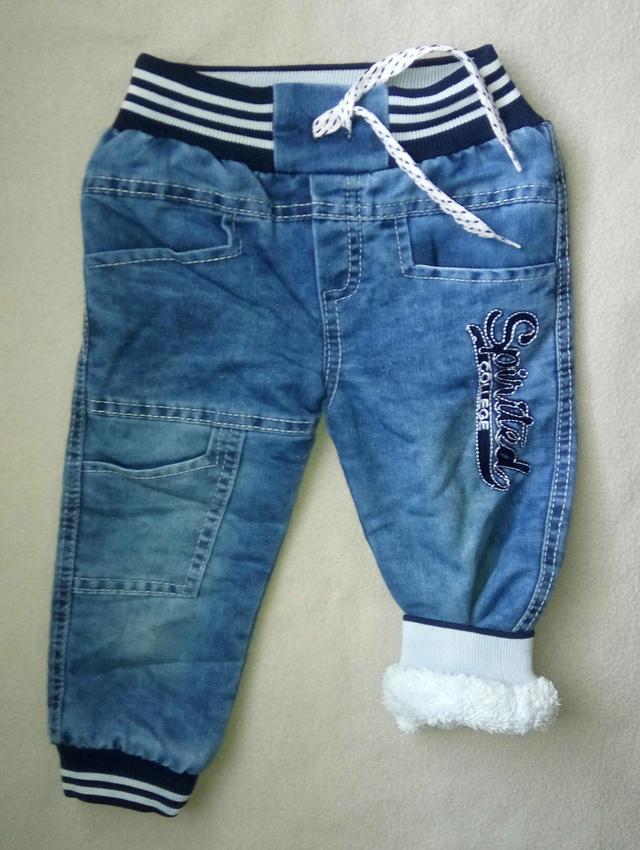 Теплые детские джинсы на махре для мальчиков 2-4 года Турция оптом
