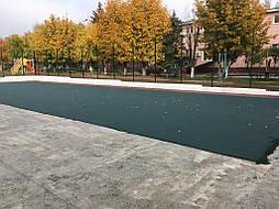 Уложена половина зеленой крошки