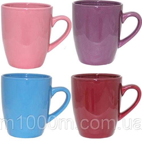 Чашка керамическая цветная 380 мл
