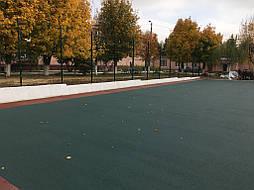 Устройство двухцветного покрытия для спортивной площадки 10