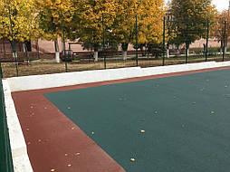 Устройство двухцветного покрытия для спортивной площадки 11
