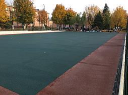 Устройство двухцветного покрытия для спортивной площадки 14