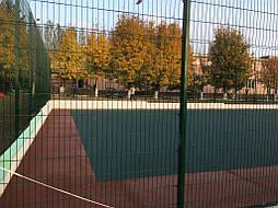 Устройство двухцветного покрытия для спортивной площадки 15