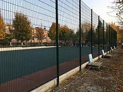 Устройство двухцветного покрытия для спортивной площадки 16
