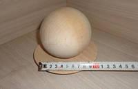 Деревянный шар, 10 см