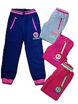 Утеплённые спортивные брюки для девочек, размеры 134-164, арт. AD-641