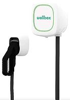 Зарядная станция для электромобилей Wallbox Pulsar Type1 3.7kW 16A кабель 5м, белая