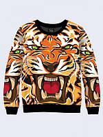 Свитшот Взбешённый тигр арт