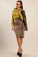 Модная юбка-карандаш Велори из костюмной ткани с вельветом 42-52 размера
