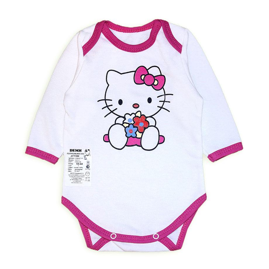 """Теплий Боді """"Hello Kitty"""" рожевий на 6 міс"""