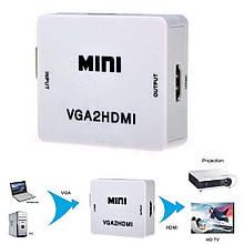Конвертор VGA на HDMI (коробка)  dl