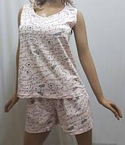 Пижама шорты с майкой хлопок, размеры от 44 до 50, Харьков, фото 3