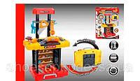 Детский набор инструментов мастерская Чемодан-столик, дрель на батарейках