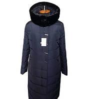 Женские пальто больших размеров Ромбик с мутоном, фото 1