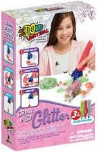 Набор для детского творчества с 3D-маркером ЛЕСНЫЕ ДРУЗЬЯ (3D-маркер с блестками-3 шт, аксессуары)