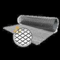 Сетка для вентиляции вытяжная просечная, оцинкованная, 0.2х0.8 мм, 0.5х1.5 м