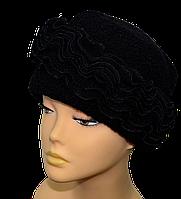 Шапка женская Келли весенняя шерстяная размеров 56-57 и 57-58 лиловая, серая, черная , бежевая