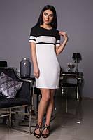 Интересное черно-белое платье