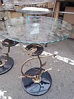 Кованный столик со стеклом-Распродажа