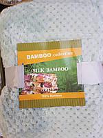 Простынь махровая из бамбука 150*200. Нежная мята.
