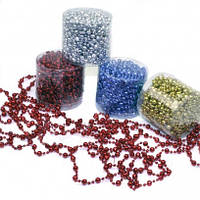 Нитки шарики пластиковые диаметр (4+8)мм длина 10 м 4 цвета