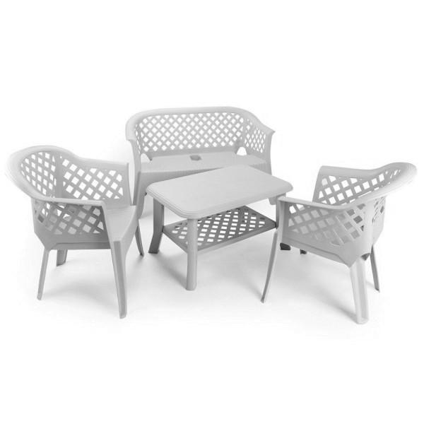 Комплект садовый Veranda set цвет белый / bianco