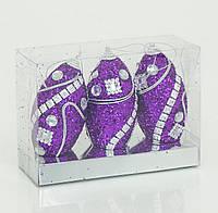 Ёлочная игрушка _Золотая коллекция_  0863 - 6 шт в слюде, 13см