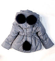 """Детская модная зимняя куртка  на девочек """"Панда"""""""